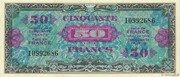 50 francs Drapeau (type 1944) – avers