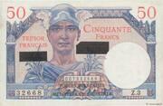 50 francs Suez (type 1956) – avers