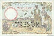 1000 francs Algérie (type 1943) – avers
