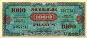 1000 francs Drapeau (type 1944) – avers