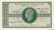 1000 francs Marianne (type 1945, chiffres gras) – avers