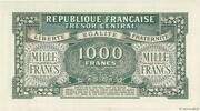 1000 francs Marianne (type 1945, chiffres gras) – revers