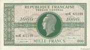 1000 francs Marianne (type 1945, chiffres maigres) – avers