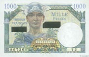 1000 francs Suez (type 1956) – avers