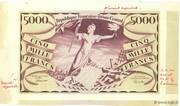 5000 francs Liberté (type 1943) – avers