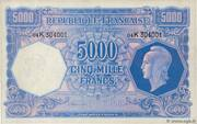 5000 francs Marianne (type 1945) – avers