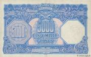 5000 francs Marianne (type 1945) – revers