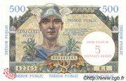 5 NF sur 500 francs Trésor public (type 1960) – avers