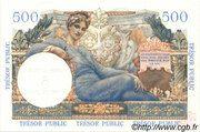 5 NF sur 500 francs Trésor public (type 1960) – revers
