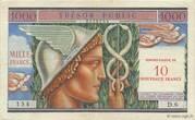 10 NF sur 1000 francs Trésor public (type 1960) – avers
