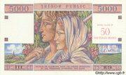 50 NF sur 5000 francs Trésor public (type 1960) – avers