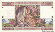 50 NF sur 5000 francs Trésor public (type 1960) – revers