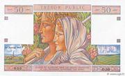 50 francs Trésor public (type 1963) – avers