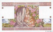 50 francs Trésor public (type 1963) – revers