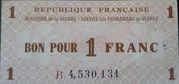 1 franc  (service des prisonniers de guerre) – avers