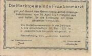 20 Heller (Frankenmarkt) -  avers