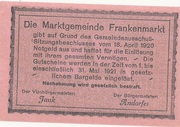 50 Heller (Frankenmarkt) -  revers