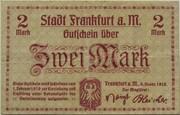 2 Mark (Frankfurt am Main) – avers