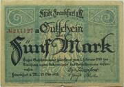 5 Mark (Frankfurt am Main) – avers