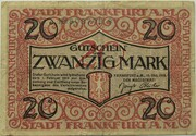20 Mark (Frankfurt am Main) – avers