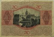 20 Mark (Frankfurt am Main) – revers