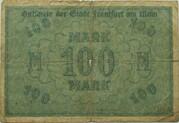 100 Mark (Frankfurt am Main) – revers