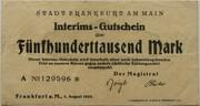 500,000 Mark (Frankfurt am Main) – avers