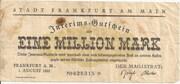 1,000,000 Mark (Frankfurt am Main) – avers