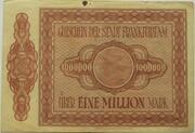 1,000,000 Mark (Frankfurt am Main) – revers