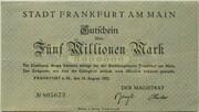5,000,000 Mark (Frankfurt am Main) – avers