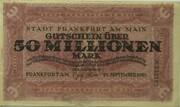 50,000,000 Mark (Frankfurt am Main) – avers