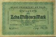 10,000,000 Mark (Frankfurt am Main) – avers