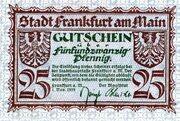 25 Pfennig (Frankfurt am Main) – avers