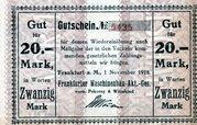 20 Mark (Frankfurter Maschinenbau) – avers