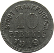 10 pfennig - Frankfurt am Main – avers