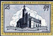 25 Pfennig (Frankfurt an der Oder) – revers
