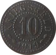 10 pfennig - Frankfurt an der Oder – revers