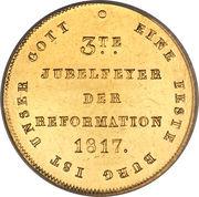 1 ducat (300ème anniversaire de la Réformation) – revers
