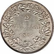 2 Gulden – revers