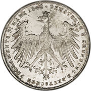2 Gulden (Constitutional Convention) – revers