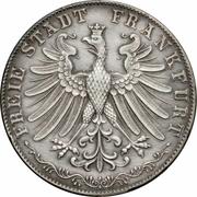 2 Gulden (100ème anniversaire de la naissance de Goethe) – avers