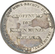 2 Thaler / 3½ Gulden (Opening of the new mint) – avers