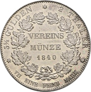 2 Thaler / 3½ Gulden (Opening of the new mint) – revers