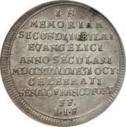 ⅛ Thaler (Bicentennaire de la Réformation) – revers