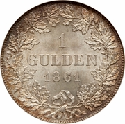 1 Gulden – revers