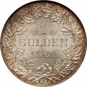 1 Gulden – revers