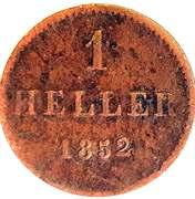 1 Heller (Essai) – revers