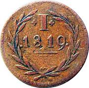 1 pfennig 1819 - Francfort sur le Main – revers