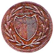 1 pfennig Francfort – avers