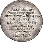 1¼ ducat (Frappe essai en argend; Couronnement imperial de Joseph II.) – avers